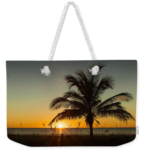 Palm Sunset Weekender Tote Bag