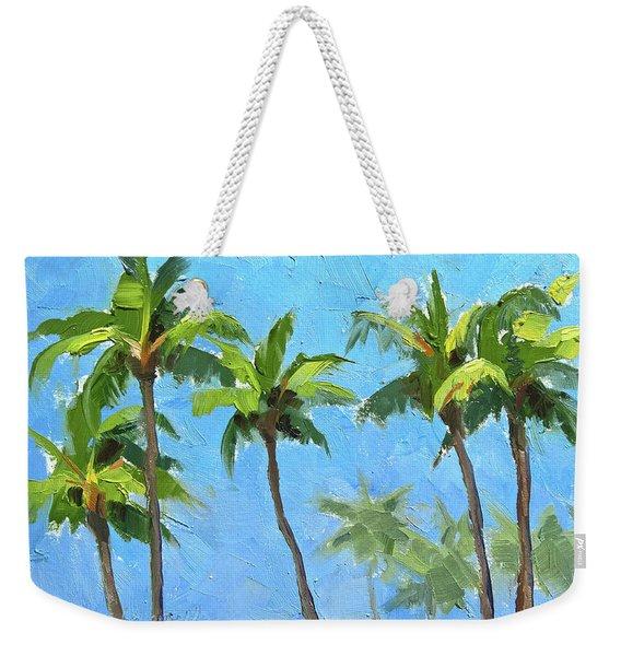 Palm Tree Plein Air Painting Weekender Tote Bag