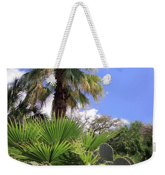 Palm Trees And Cactus Weekender Tote Bag