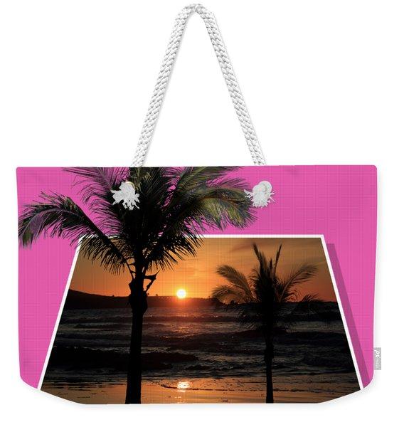 Palm Trees At Sunset Weekender Tote Bag