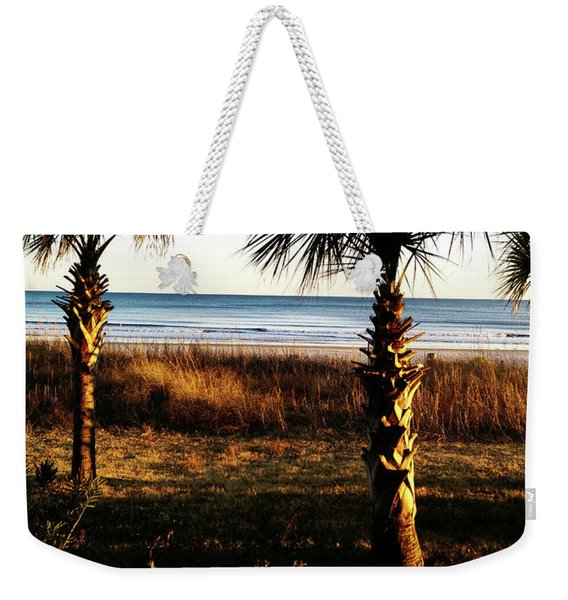Palm Triangle Weekender Tote Bag