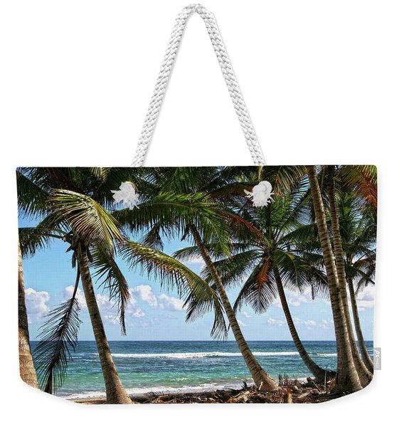 Palm Walk Weekender Tote Bag