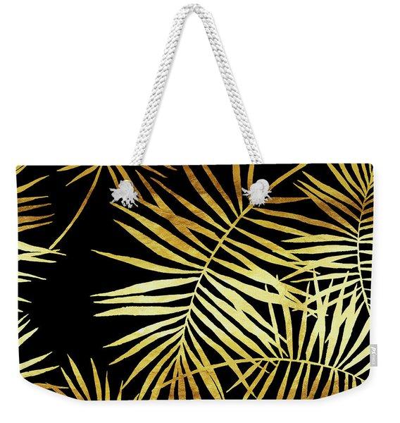 Palmes Dor Noir Golden Palm Fronds And Leaves Weekender Tote Bag