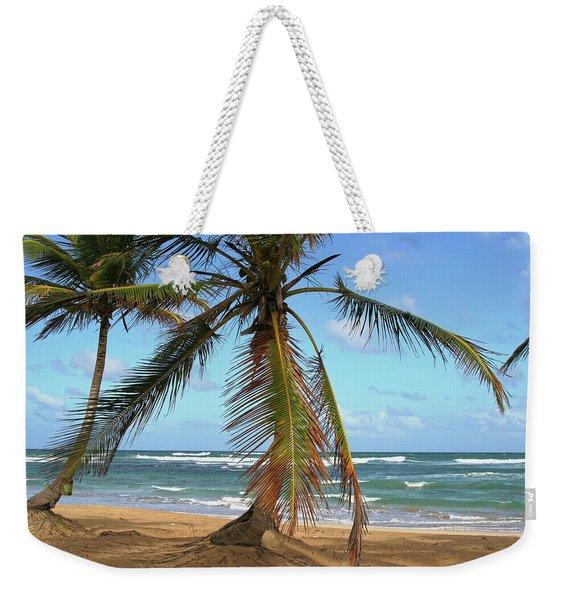 Palms And Sand Weekender Tote Bag