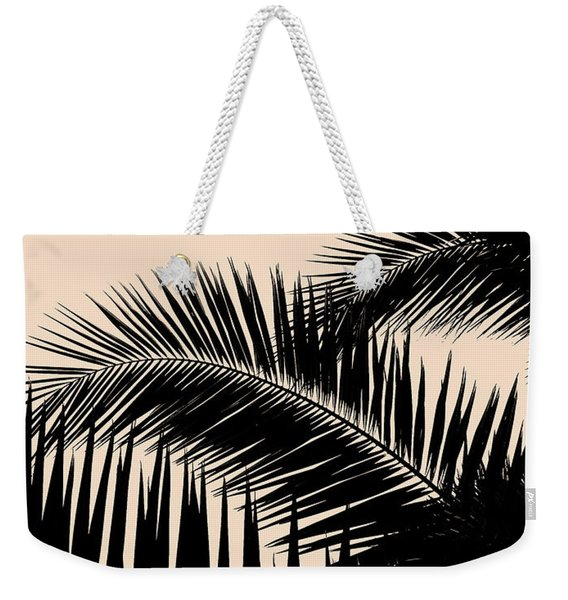 Palms On Pale Pink Weekender Tote Bag