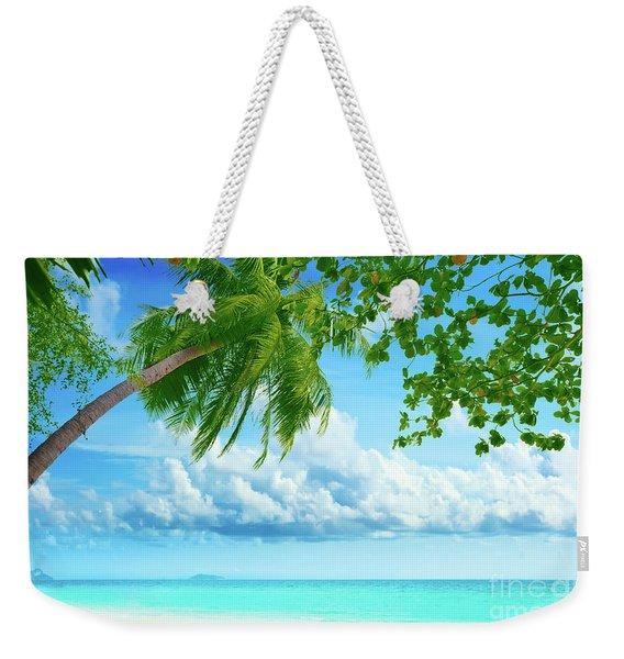 Palmtree On The Beach Weekender Tote Bag