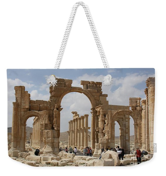Palmyra Before...triumphal Arch Weekender Tote Bag