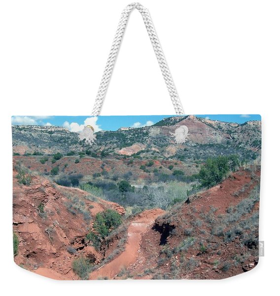 Weekender Tote Bag featuring the digital art Palo Duro Canyon by Deleas Kilgore