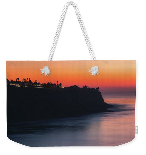 Weekender Tote Bag featuring the photograph Palos Verdes Coast After Sunset by Andy Konieczny