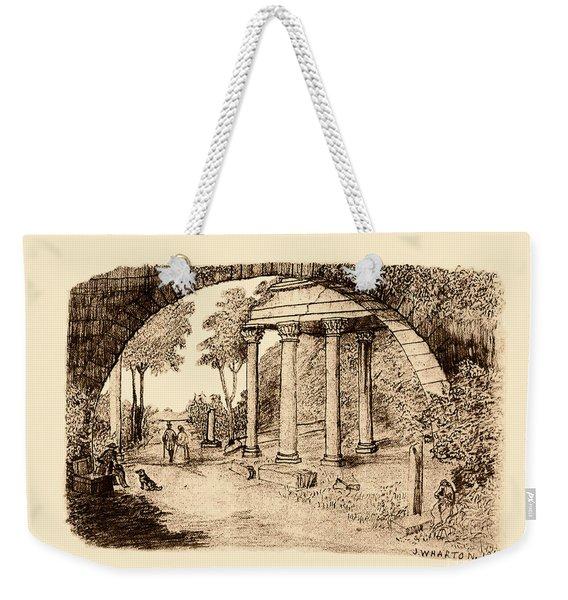 Pan Looking Upon Ruins Weekender Tote Bag