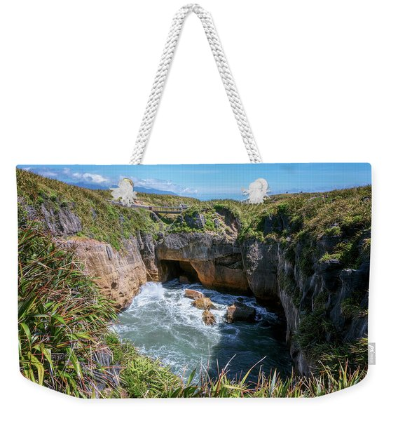 Pancake Rocks New Zealand Weekender Tote Bag