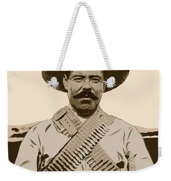 Weekender Tote Bag featuring the digital art Pancho Villa by Antonio Romero