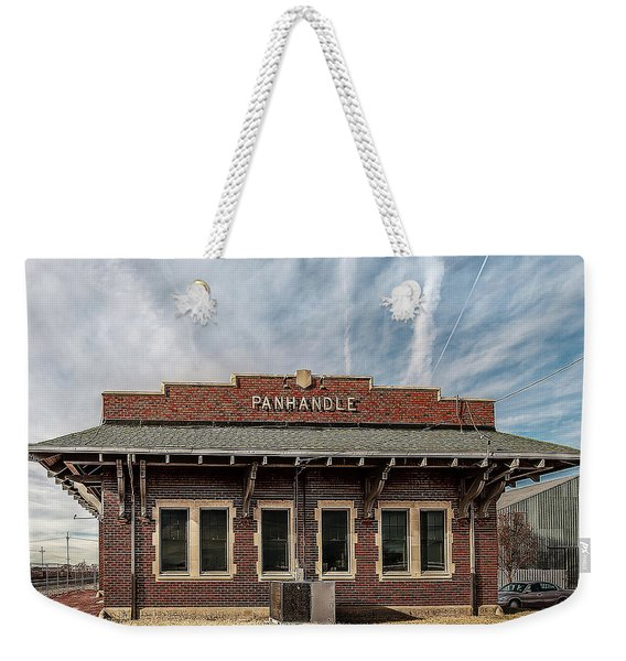 Weekender Tote Bag featuring the photograph Panhandle Depot by Scott Cordell