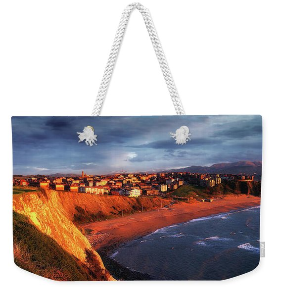 Panorama Of Aixerrota Sunset Weekender Tote Bag