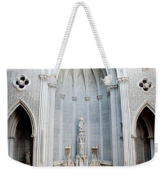 Panorama Of The Main Altar Of St. John The Evangalist Roman Catholic Church Schenectady Weekender Tote Bag
