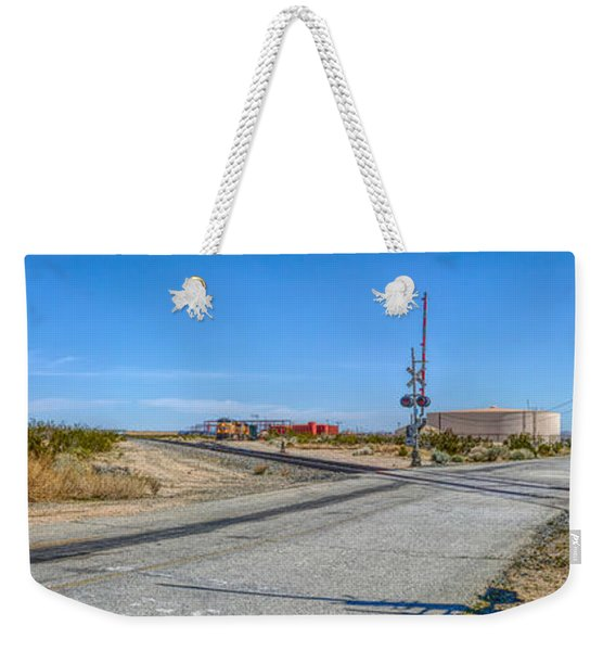 Panoramic Railway Signal Weekender Tote Bag