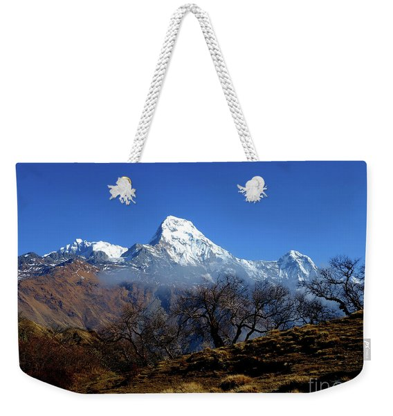 Panoramic View Of Annapurna Ghorepani Poon Hill Weekender Tote Bag