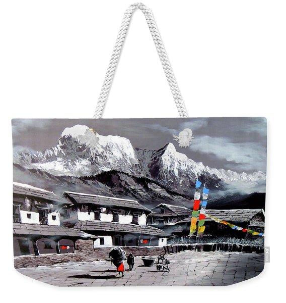 Panoramic View Of Everest Base Camp Weekender Tote Bag