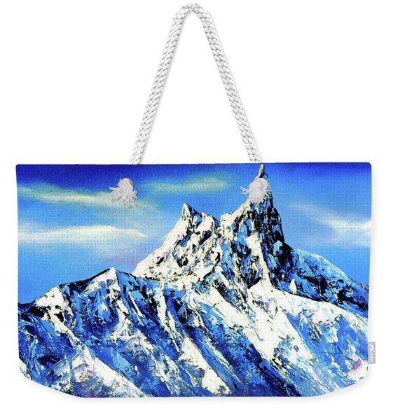 Panoramic View Of Everest Mountain Peak Weekender Tote Bag