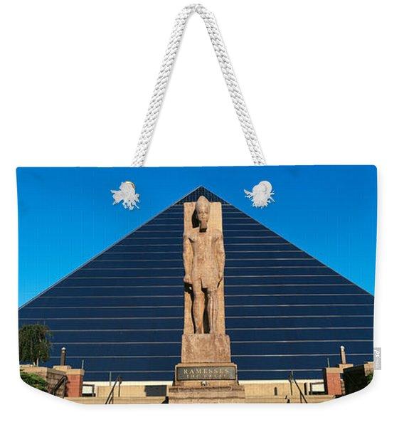 Panoramic View Of Statue Of Ramses Weekender Tote Bag