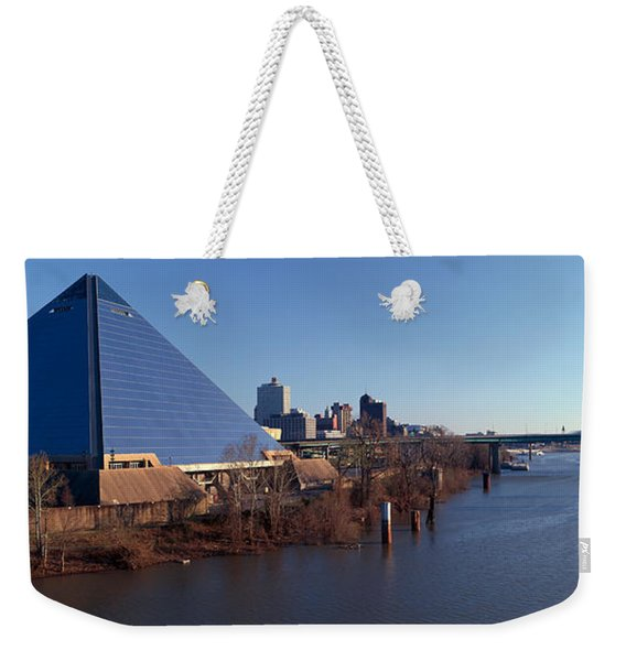 Panoramic View Of The Pyramid Sports Weekender Tote Bag