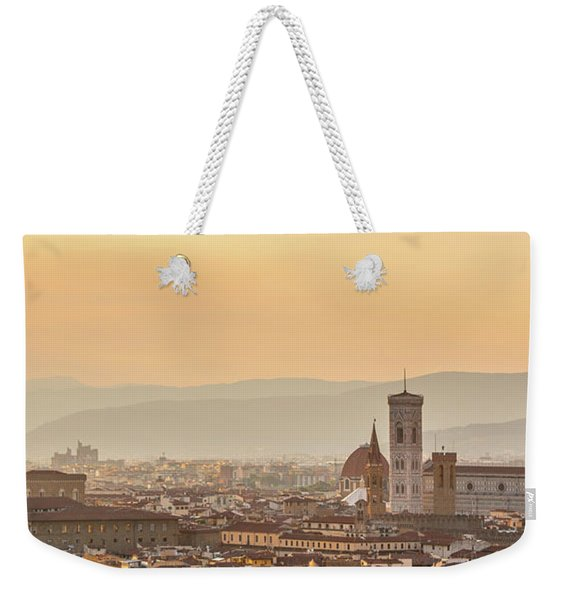 Panorama Of Florence Weekender Tote Bag