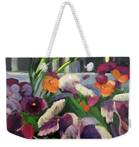 Pansy Frenzy Weekender Tote Bag