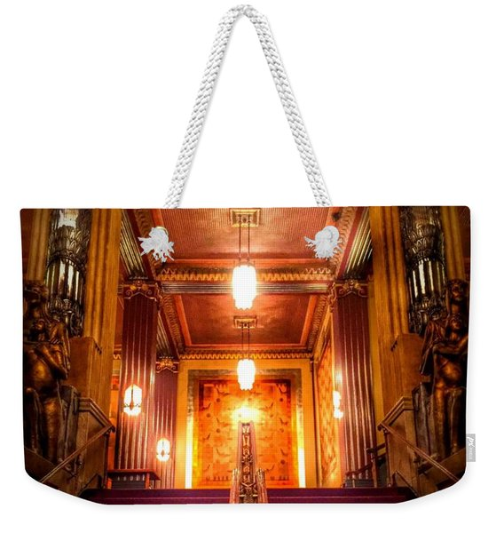Pantages Theater's Grand Staircase Weekender Tote Bag