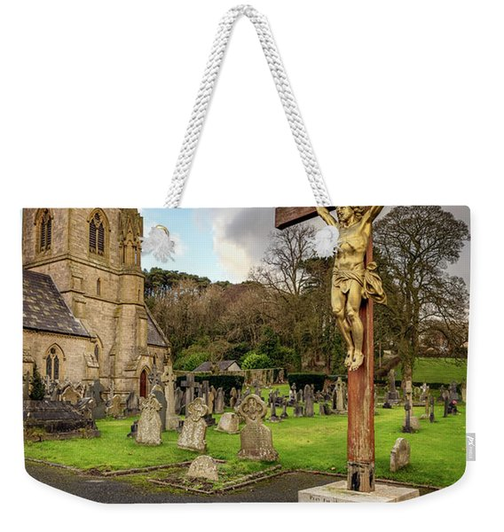 Pantasaph Church Crucifixion Weekender Tote Bag