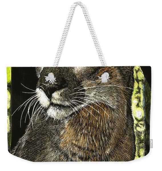 Panther Contemplates Weekender Tote Bag