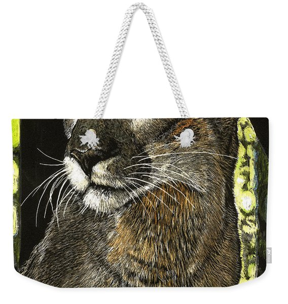 Panther Contemplates Weekender Tote Bag