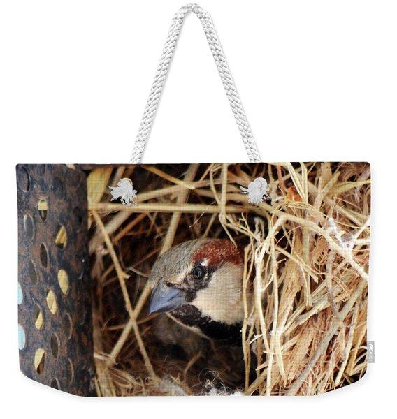Papa Bird Weekender Tote Bag