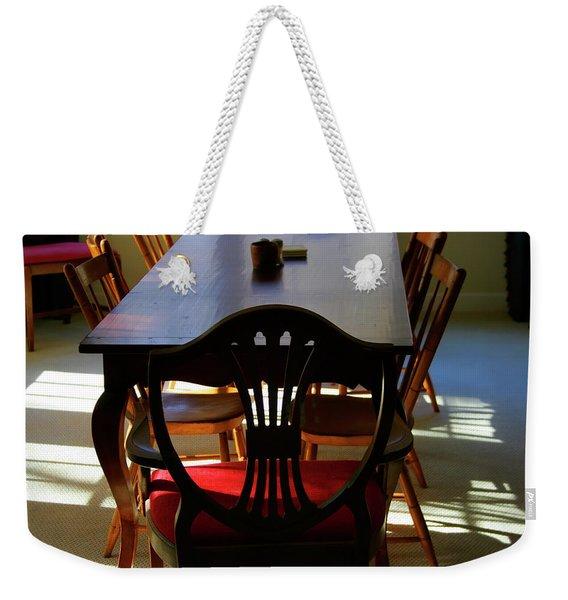 Papa Used To Sit There Weekender Tote Bag