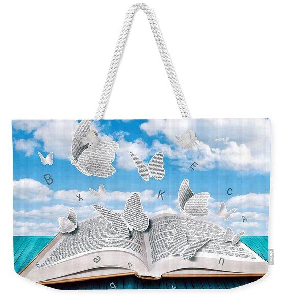 Paper Butterflies Weekender Tote Bag