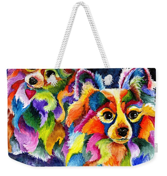 Papillion Pair Weekender Tote Bag