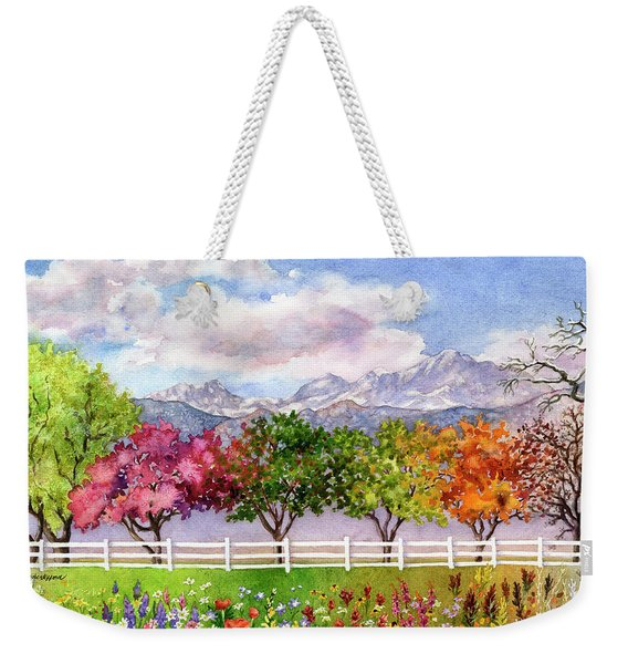 Parade Of The Seasons Weekender Tote Bag
