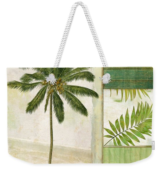 Paradise II Palm Tree Weekender Tote Bag