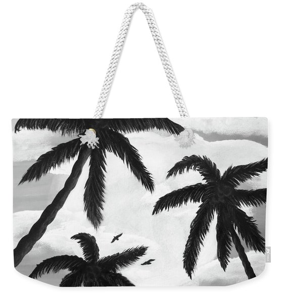 Paradise In Black And White Weekender Tote Bag