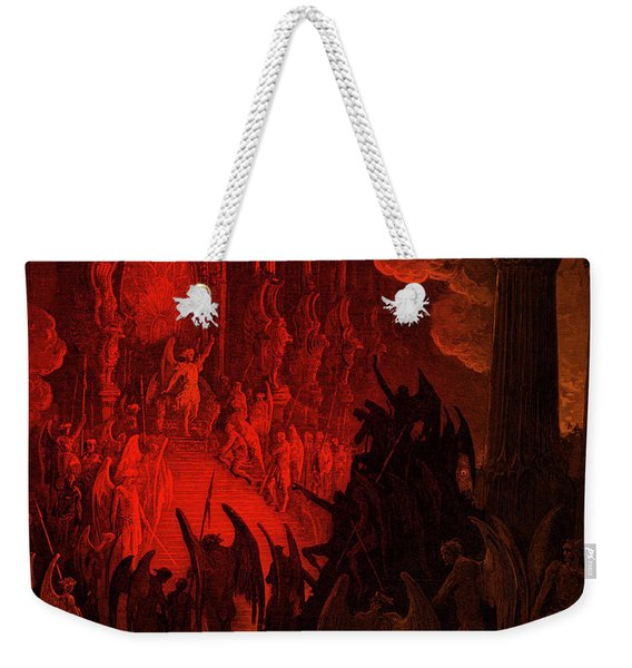 Paradise Lost  Satan In Council Weekender Tote Bag