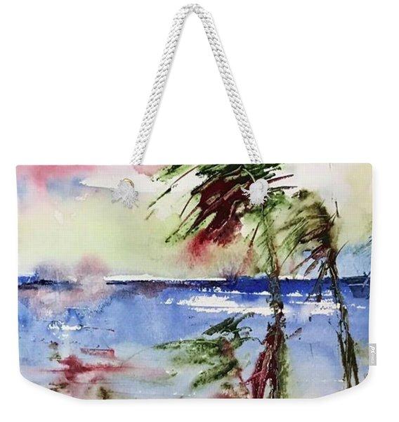 Paradise Palms Weekender Tote Bag