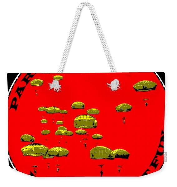 Paratrooper Fun Weekender Tote Bag