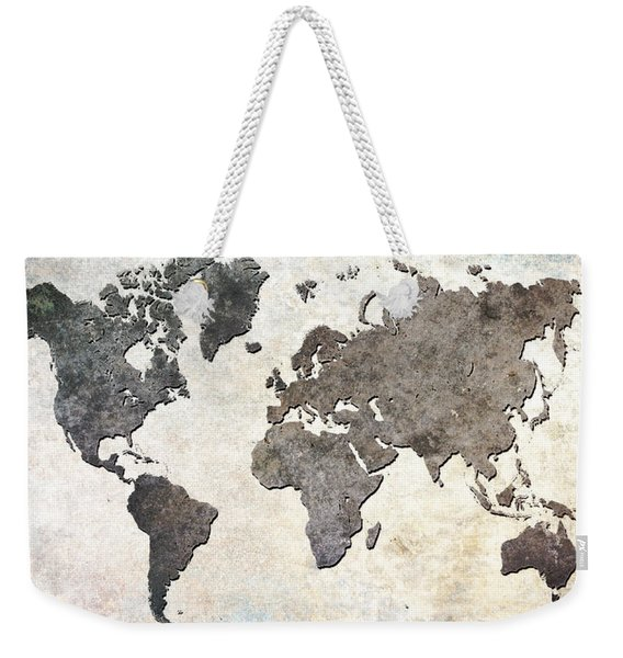 Parchment World Map Weekender Tote Bag