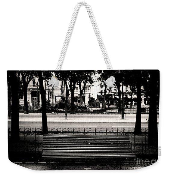Paris Bench Weekender Tote Bag