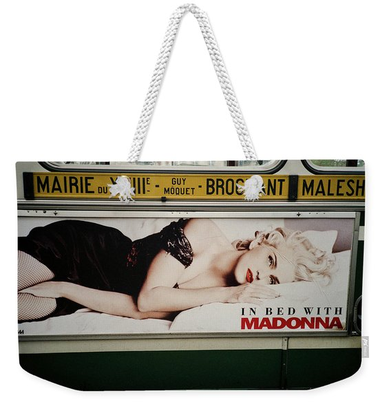 Weekender Tote Bag featuring the photograph Paris Bus by Frank DiMarco