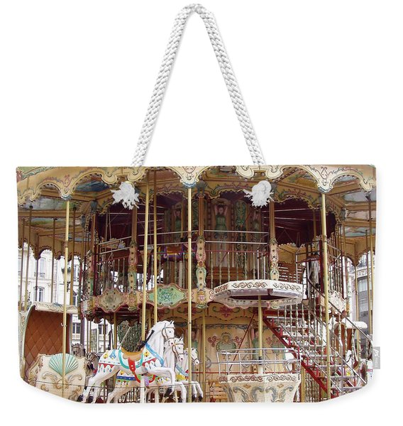 Paris Carousels - Paris Merry Go Round Carousel Horses Hotel Deville - Paris Carousels Home Decor Weekender Tote Bag