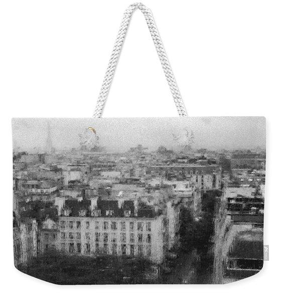 Paris In The Rain  Weekender Tote Bag