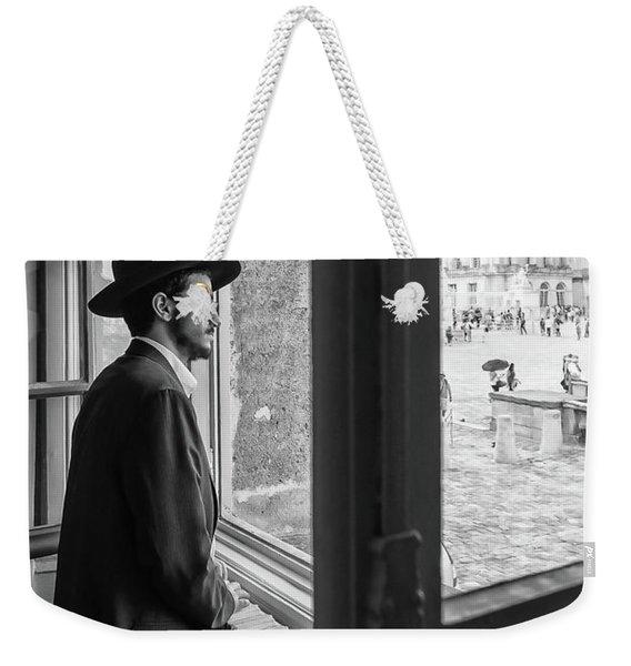 Paris Man In Muesum Weekender Tote Bag