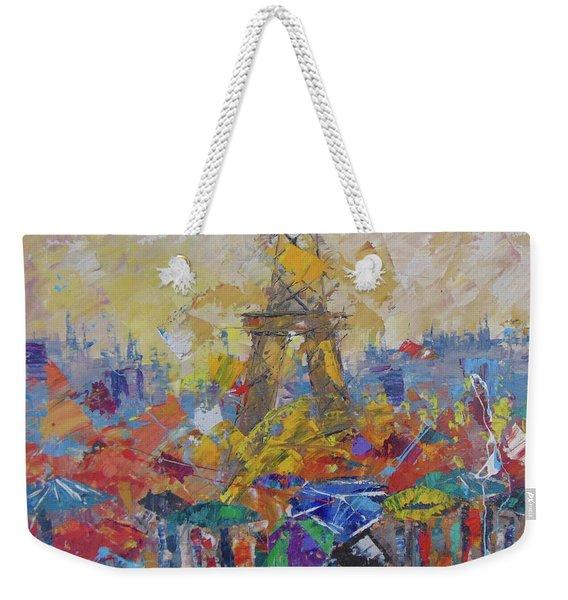 Paris Sous La Pluie Weekender Tote Bag