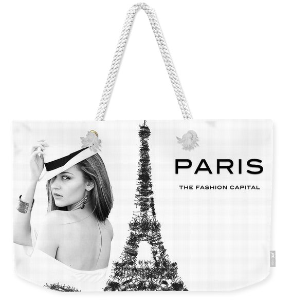 Paris The Fashion Capital Weekender Tote Bag
