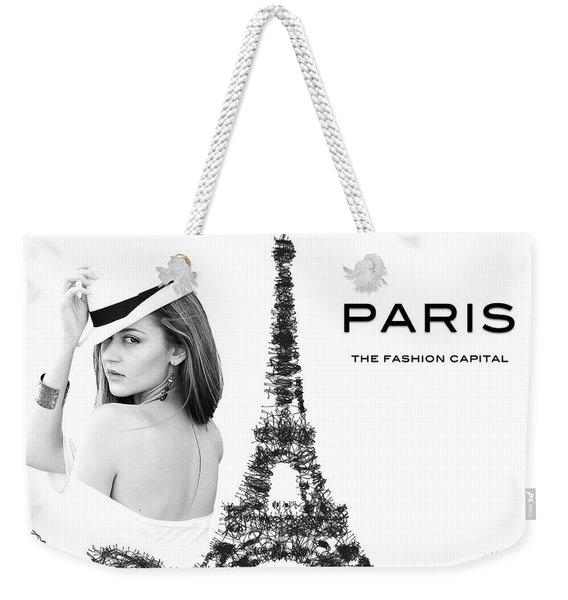 Paris The Fashion Capital Weekender Tote Bag